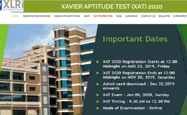 XAT score 2020