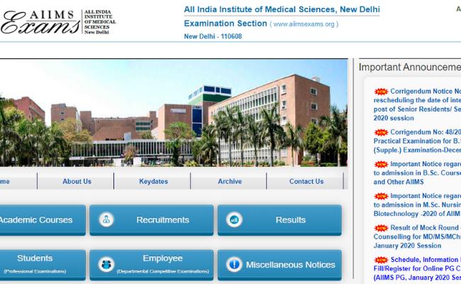 AIIMS B. Sc Nursing 2020 Registration