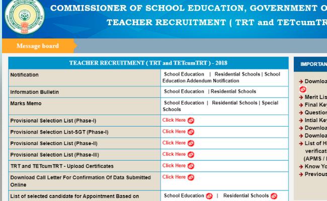 AP DSC SGT Result 2019