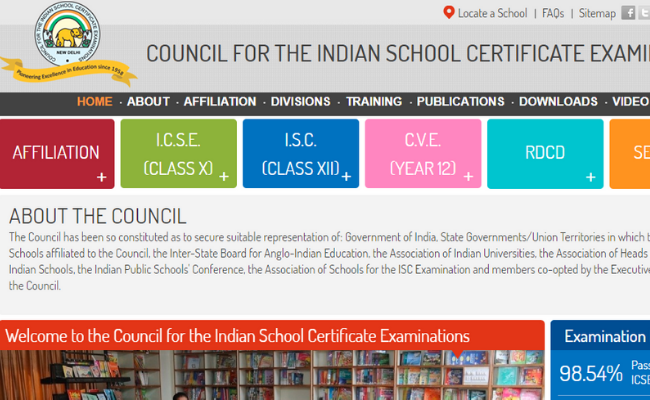 CISCE Board Time Table 2020