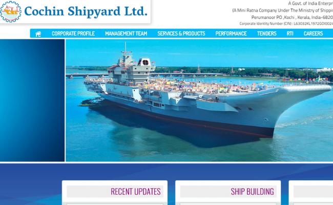 Cochin Shipyard Limited (CSL) Recruitment 2019