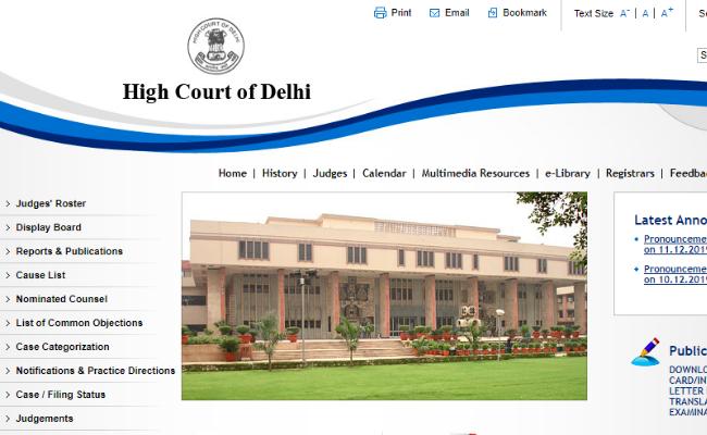 Delhi HC Chauffeur Revised Result 2019