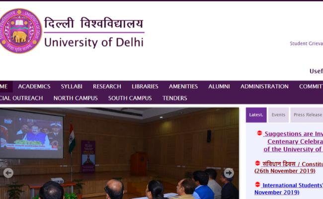 Delhi University Recruitment 2019
