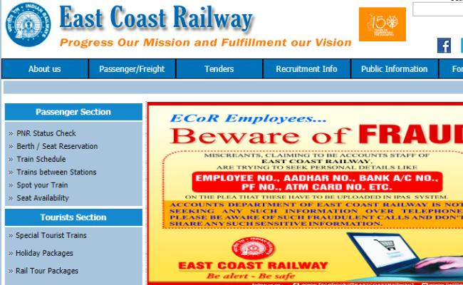 East Coast Railway 2019 Recruitment