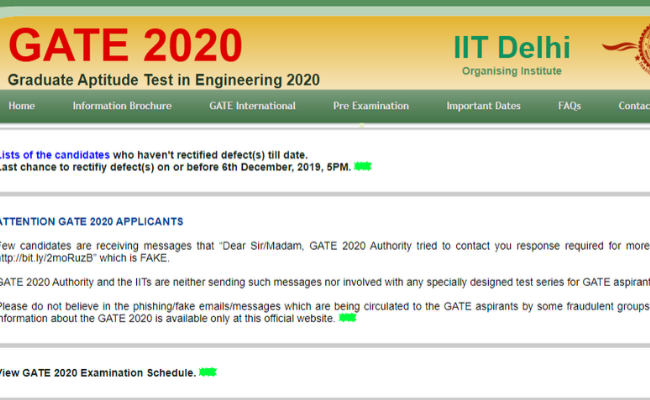 Gate 2020 Training Programme Suspended by SGSITS