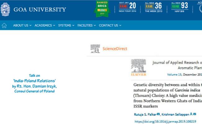 Goa University Recruitment 2019
