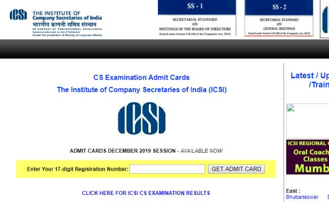 ICSI CS December 2019