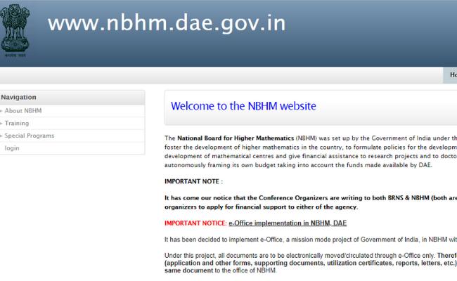 NBHM PhD 2020 Application Form