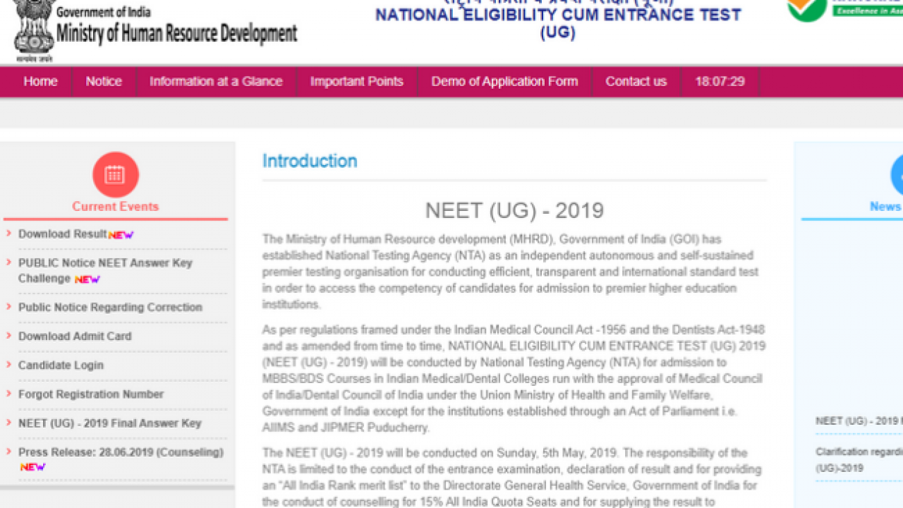 Neet Registration 2020 Last Date To Apply 31 December Ntaneet Nic In Check Here For More Details Pagalguy