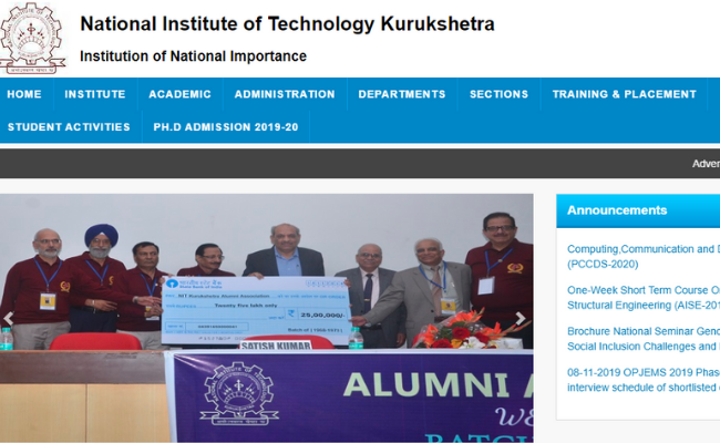 NIT Kurukshetra Recruitment 2019