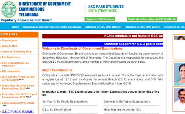 Telangana SSC 2020 Exam Schedule