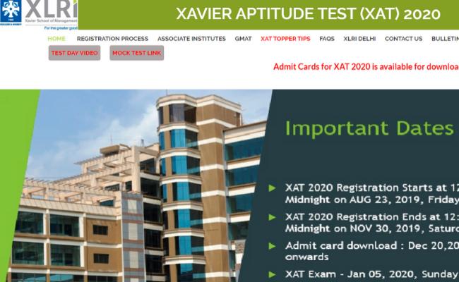 XAT 2020 Admit Card