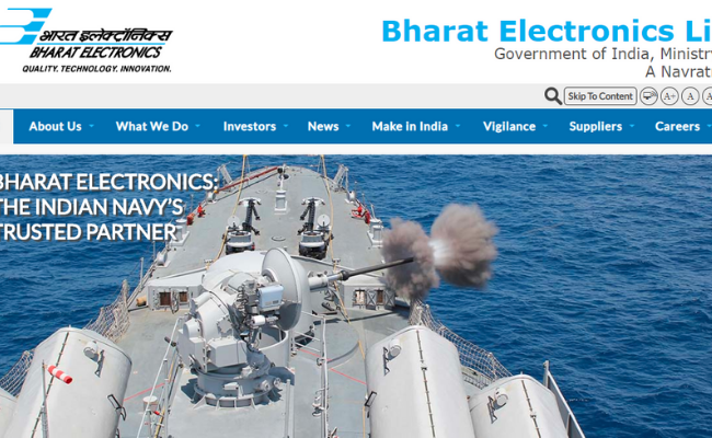 Bharat Electronics Limited (BEL) Recruitment 2020