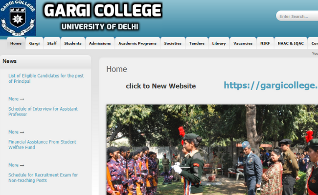 Gargi College Delhi 2020 Recruitment