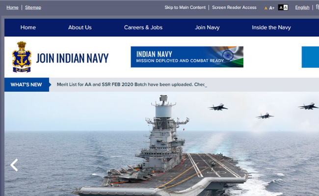 Indian Navy INET Admit Card 2020