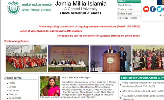 Jamia Millia Islamia Semester Exam
