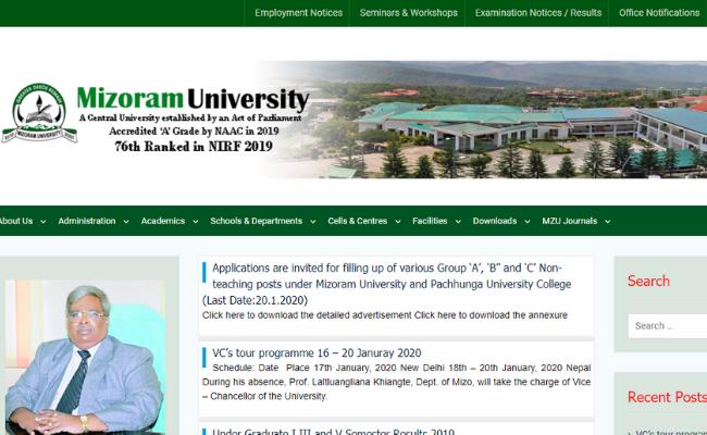 Mizoram University Result 2019