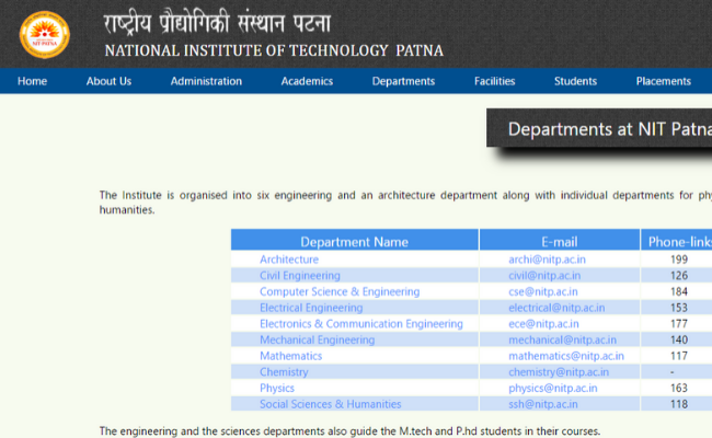 NIT Patna Recruitment 2020