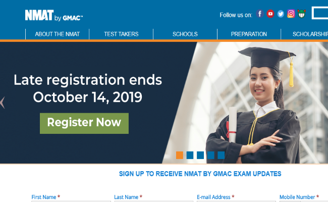NMAT Result 2019 Declared