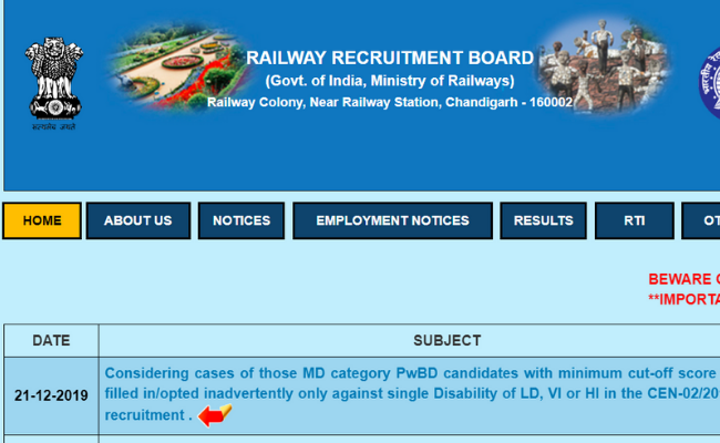 Railways RRB ALP Technician Final Results 2019
