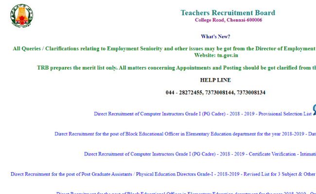 TNTRB 2019 Computer Instructor Selection List