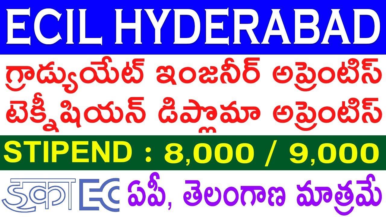 ECIL Hyderabad Recruitment 2020   ECIL Graduate,Diploma Apprentice 2020   Telugu Job Portal